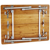 CAMPZ Bambustisch 80 x 60 x 60cm
